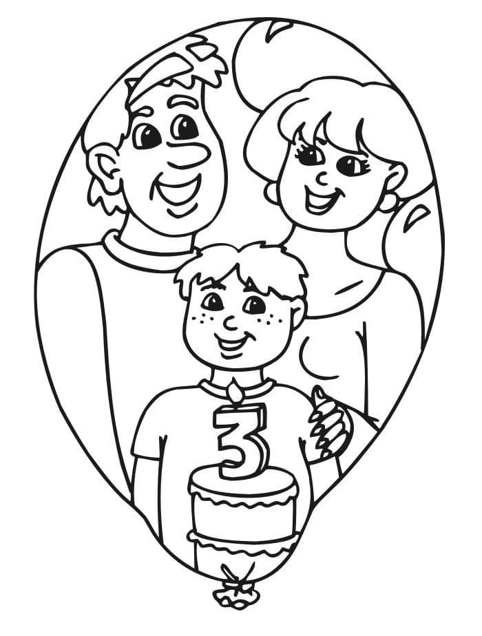 Раскраска день рождения папы, прикольные