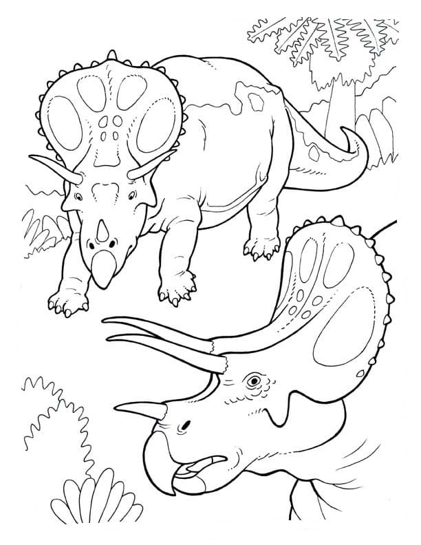 Dibujos de Triceratops para colorear. Descargar o imprimir gratis