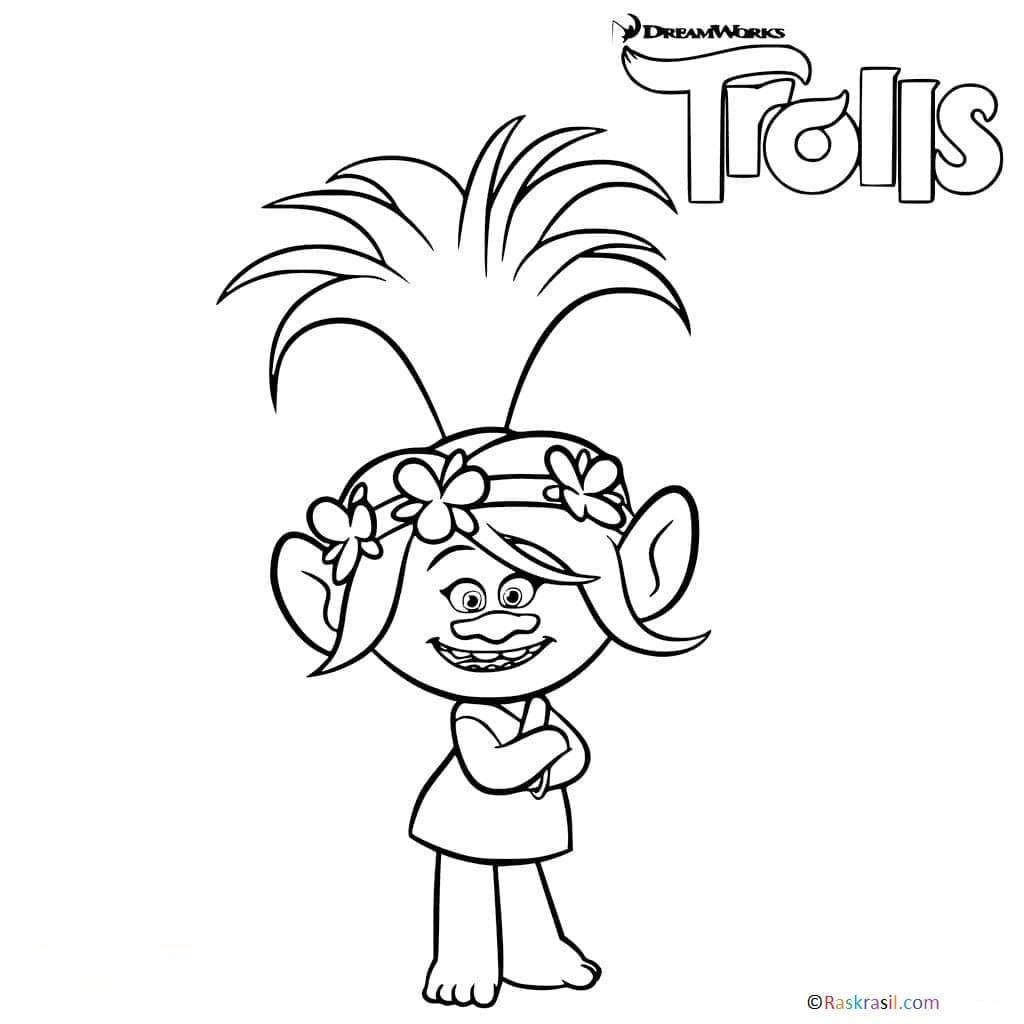 """Раскраски Тролли """"Trolls"""". Распечатайте онлайн!"""
