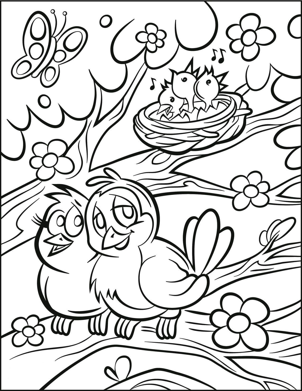 Dibujos para colorear de Primavera. Imprima gratis, 70 imágenes