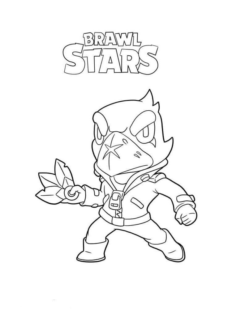 Disegni da colorare Corvo. Stampa Brawl personaggio Stars Online