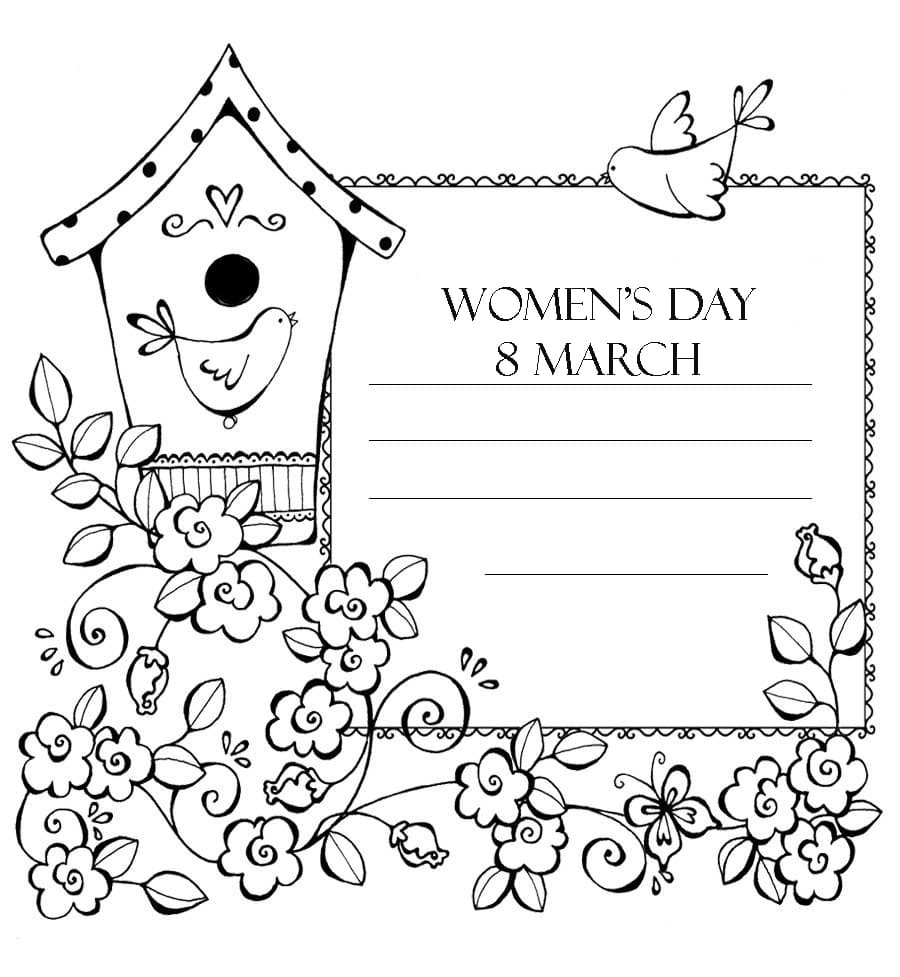 Coloring Pages Women S Day March 8th