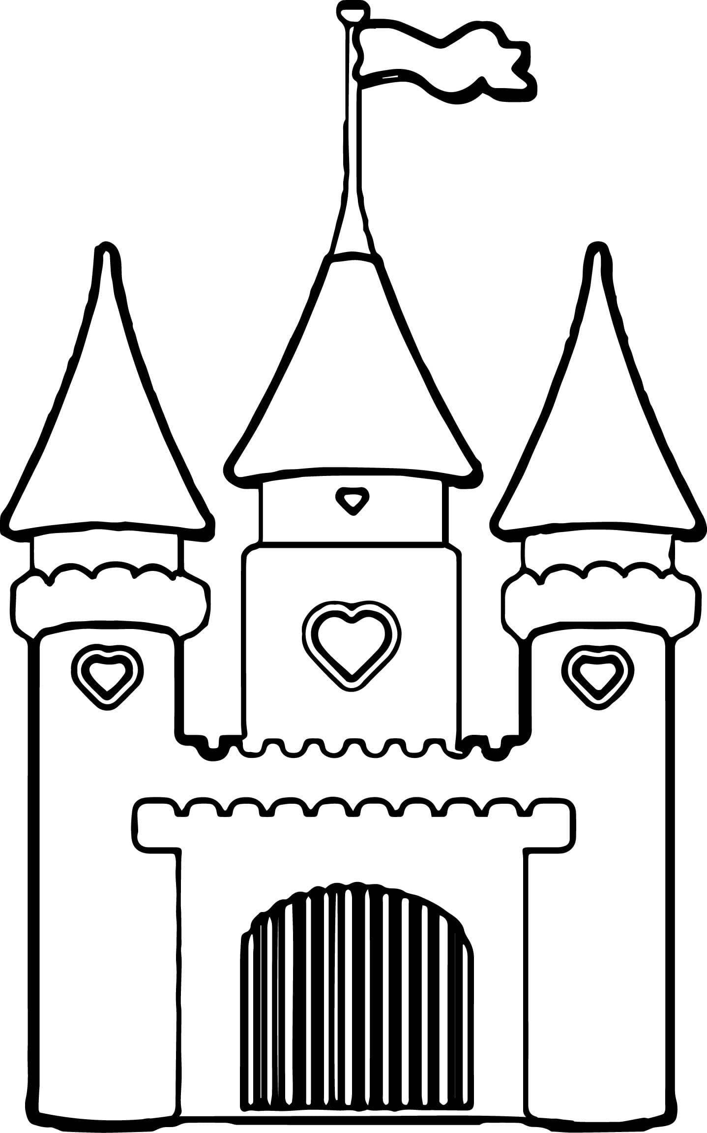 Сказочные замки в картинках раскраска