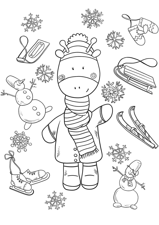 Dibujos de Invierno para colorear. Imprima gratis, 100 imágenes