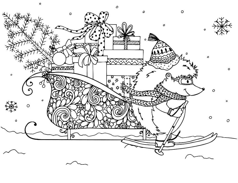 Happy New Year Adult Coloring Pages Printable | 769x1000