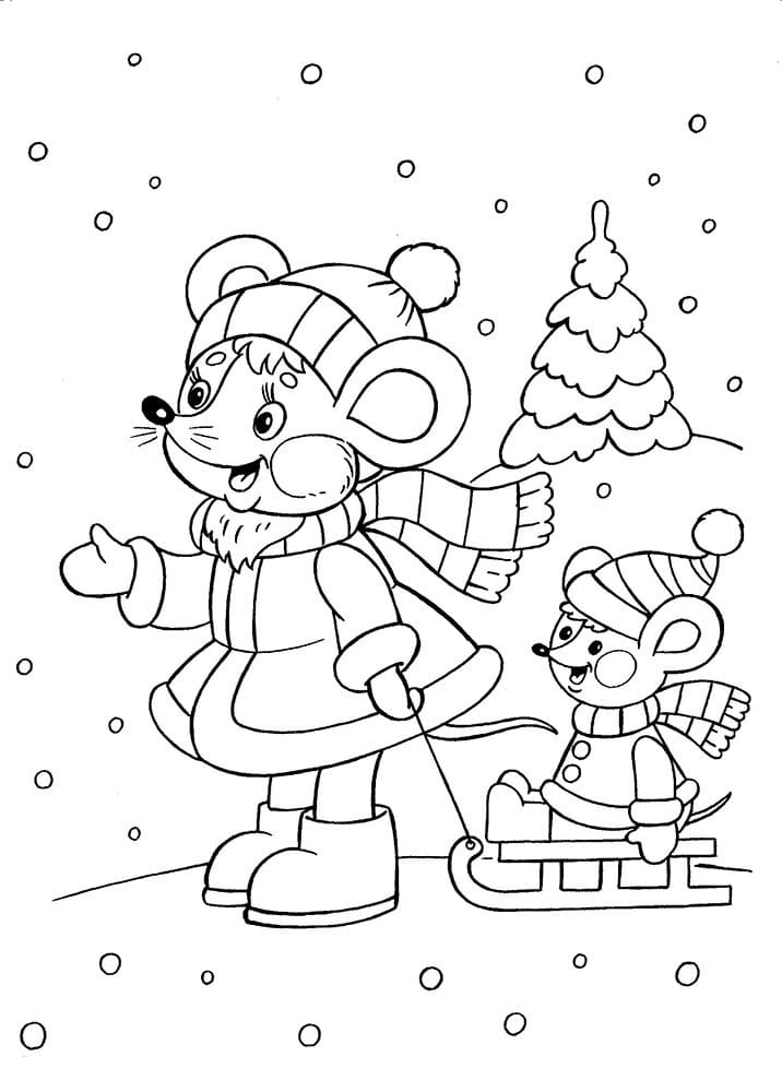 Coloring pages Winter. Print for free,100 images for children