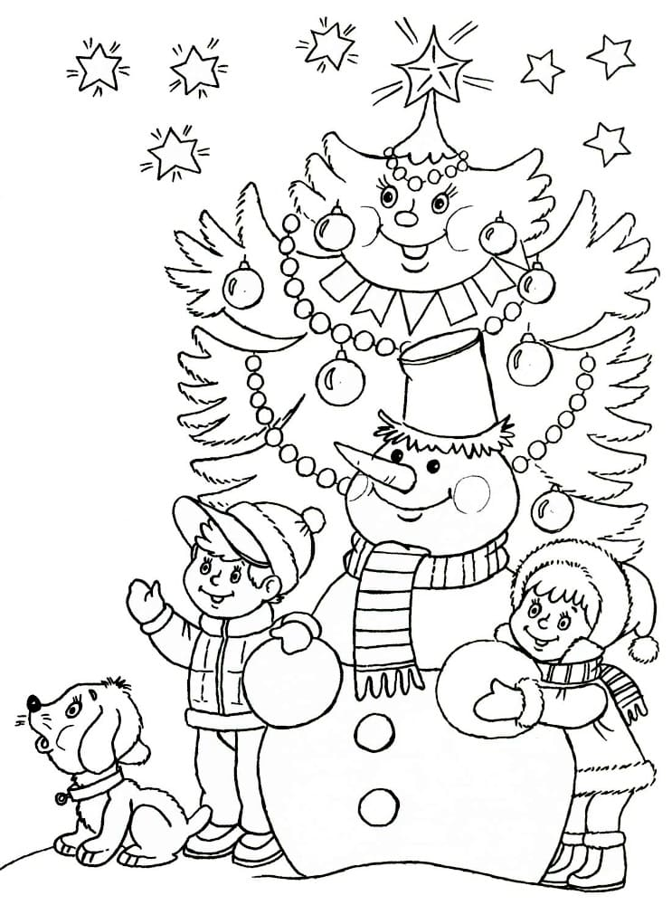 Coloring pages Winter. Print for free, 100 images for children