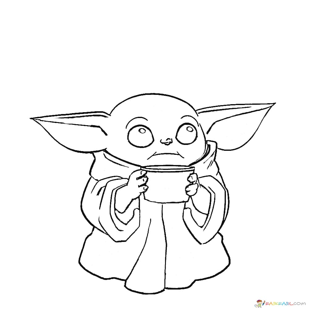 Mandalorian Free Printable Baby Yoda Coloring Pages