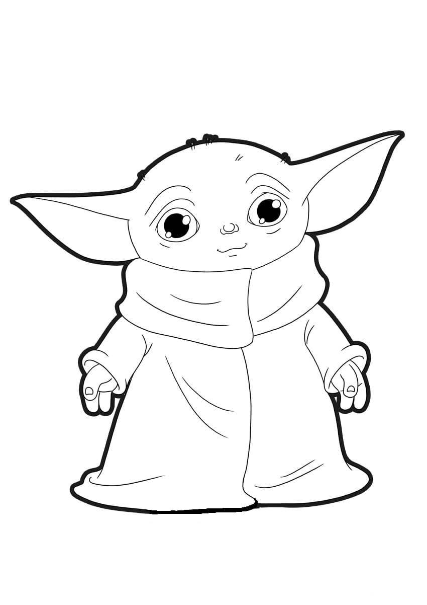 Baby Yoda Coloring Page 50 Best Pictures Free Printable