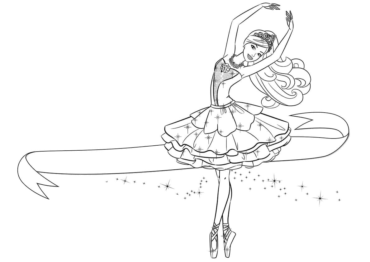 Coloring Pages Ballerina. Download or print for free
