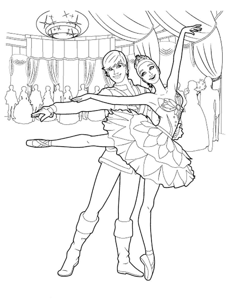 Раскраски Балерина. Скачать или распечатать бесплатно