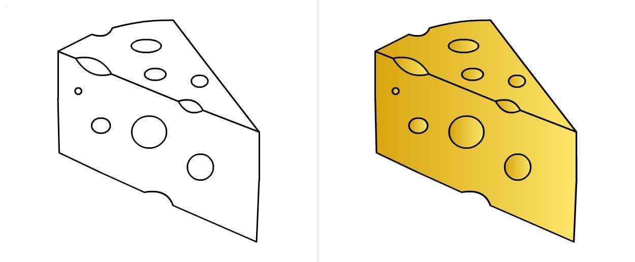 Раскраски Сыр. Распечатайте бесплатно онлайн