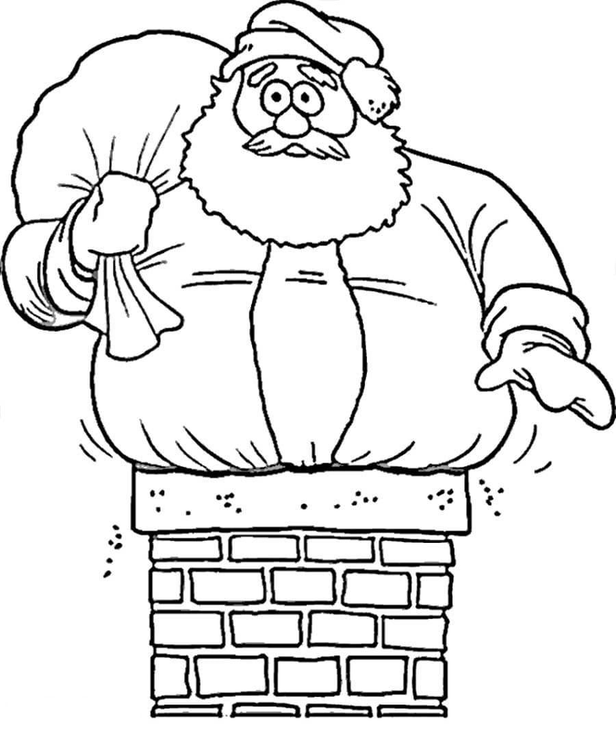 Картинки смешного деда мороза для срисовки