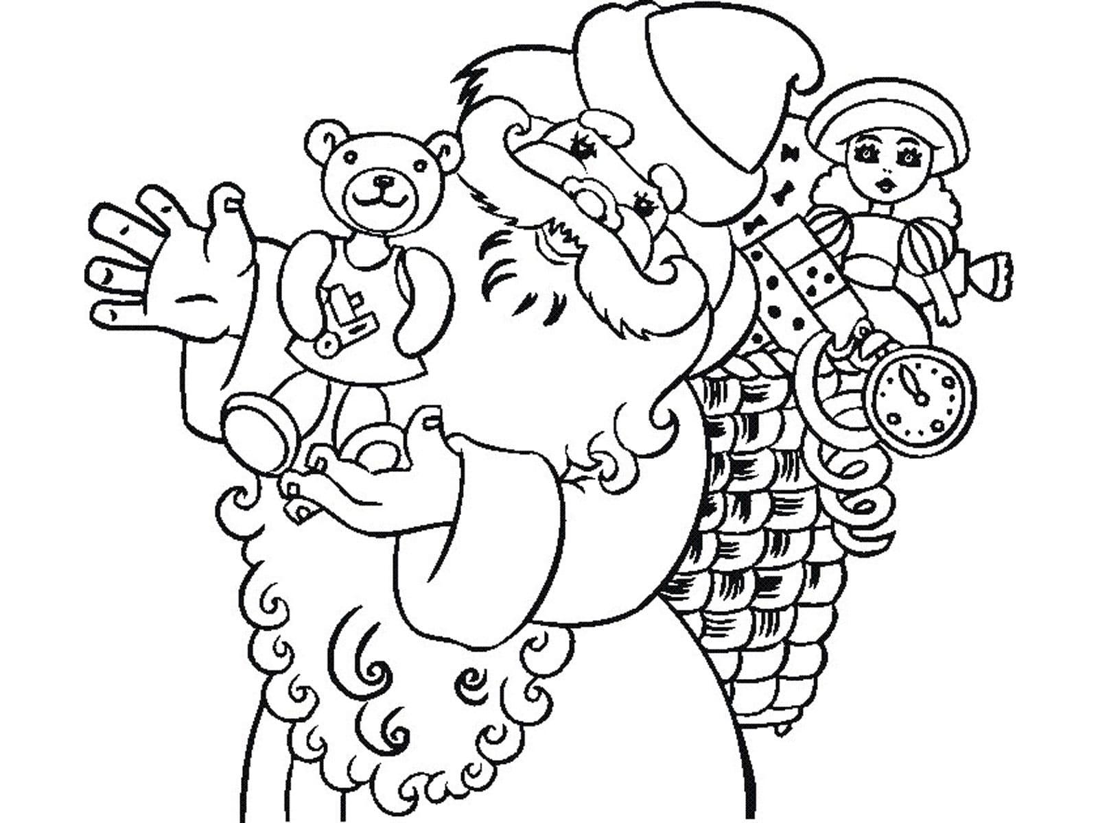 Дед мороз и снеговик картинки раскраски, днем рождения