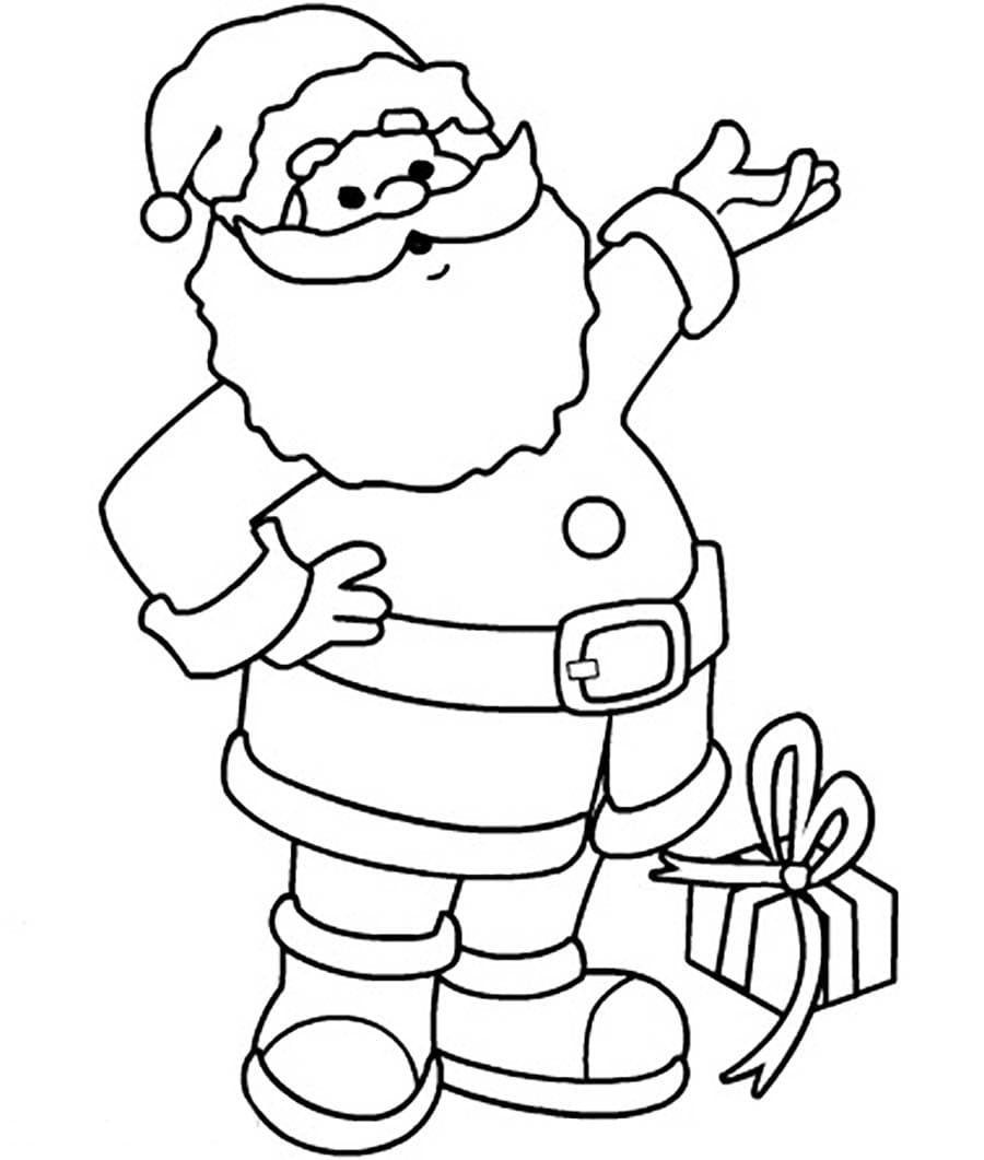 christmas santa claus coloring pages free printable - 943×943