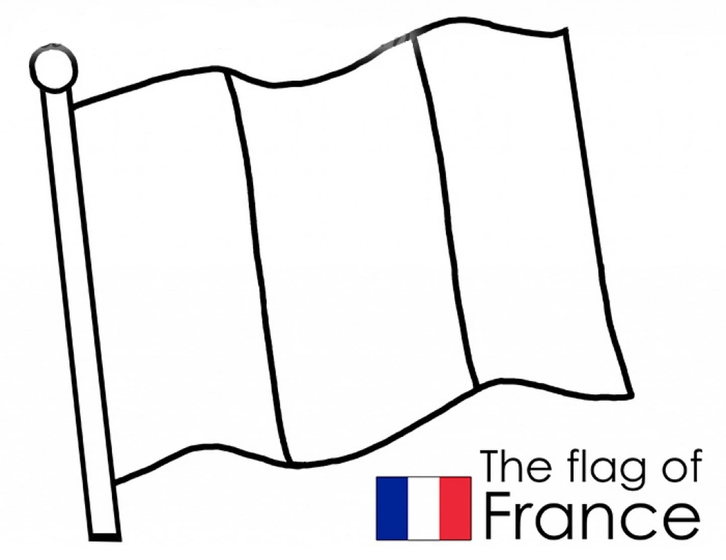 Flag of France Coloring pages. Print for free