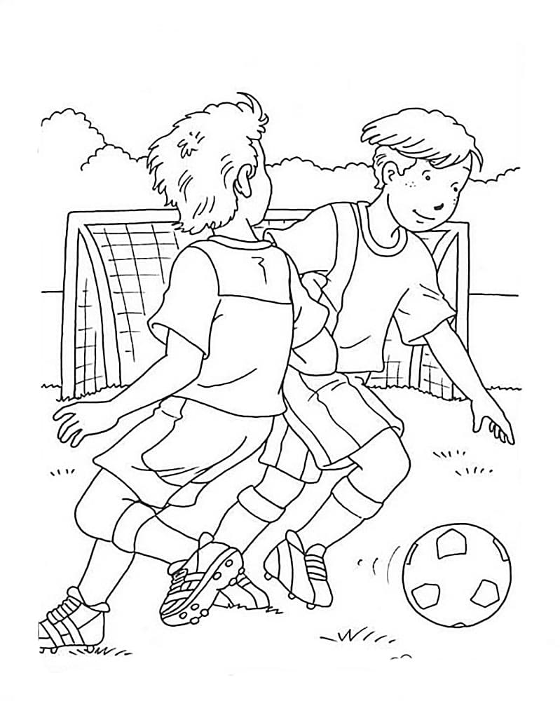 Coloring pages Football. Print online for boys, 80 images