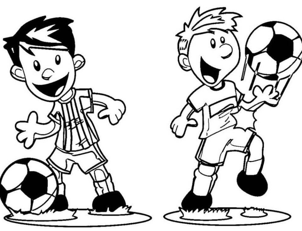 Ausmalbilder Fußball. Druck online für Jungen, 80 Bilder