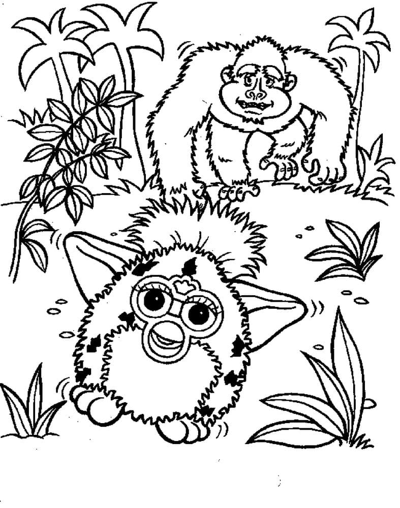 Furby Coloring pages . Print for free fantastic animals