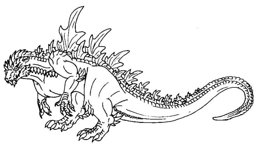 Godzilla Coloring Pages. Print Monster For Free