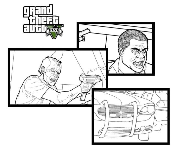 Раскраски ГТА (GTA). Скачайте или распечатайте бесплатно
