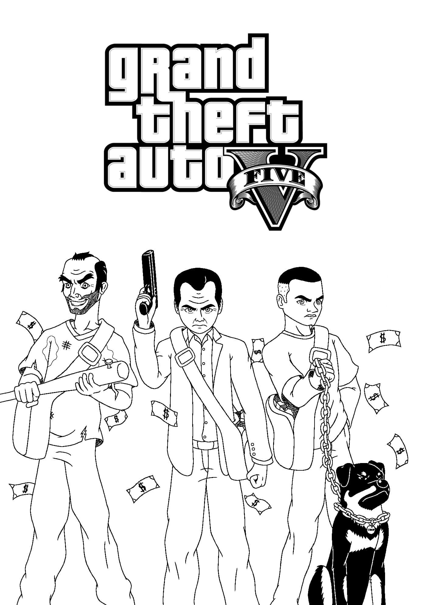 GTA Coloring Pages. Download or Print for Free, The Best Images