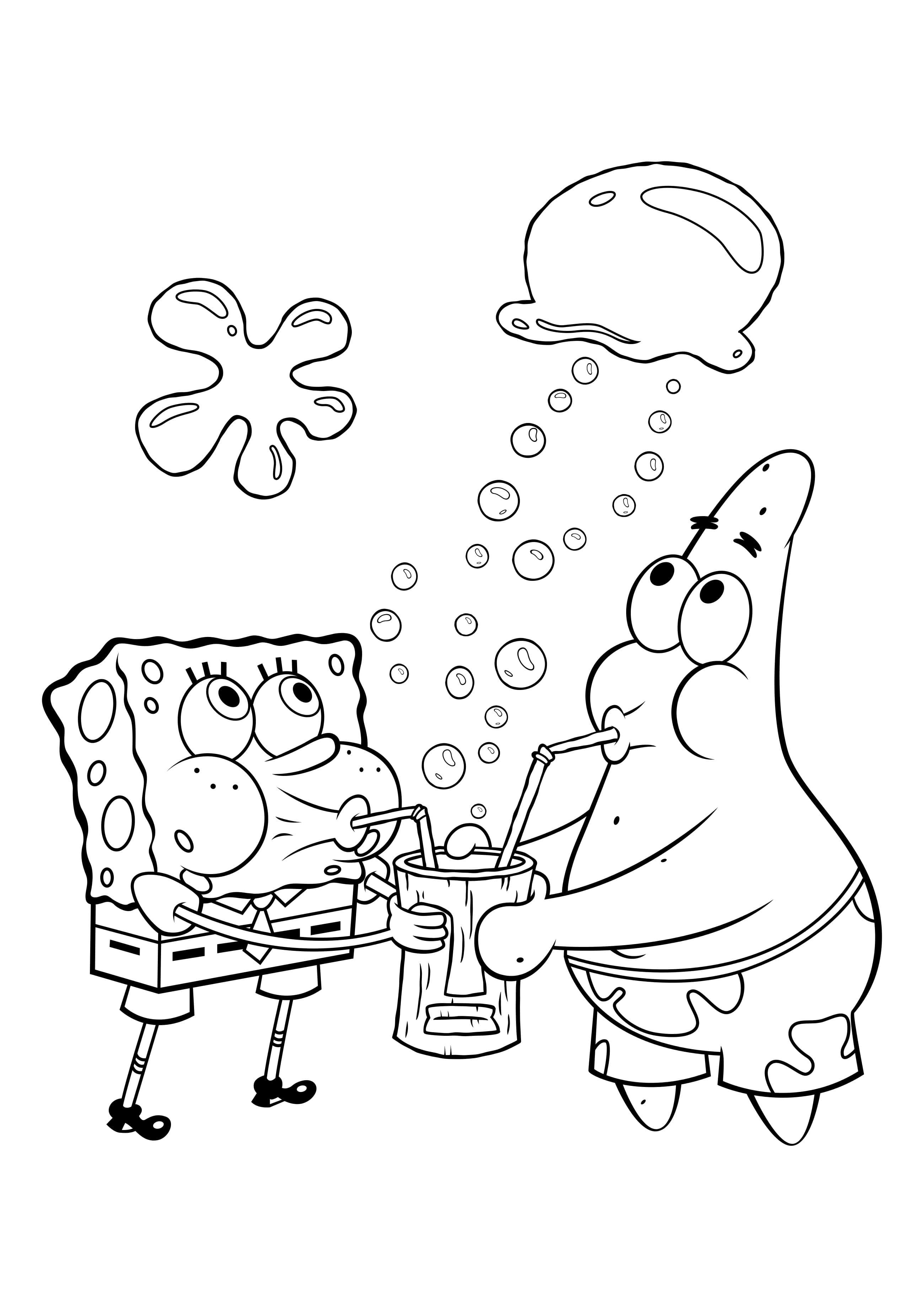Картинки, картинки спанч боба и его друзей для срисовки