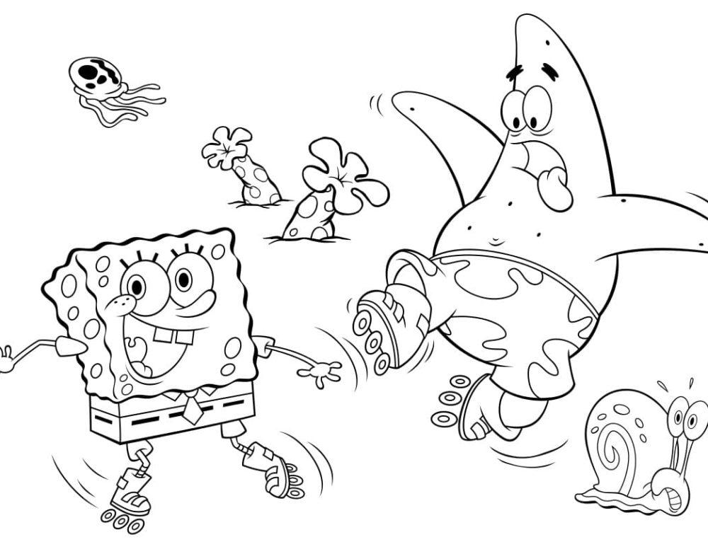 Ausmalbilder SpongeBob. Kostenlos drucken, die besten Bilder
