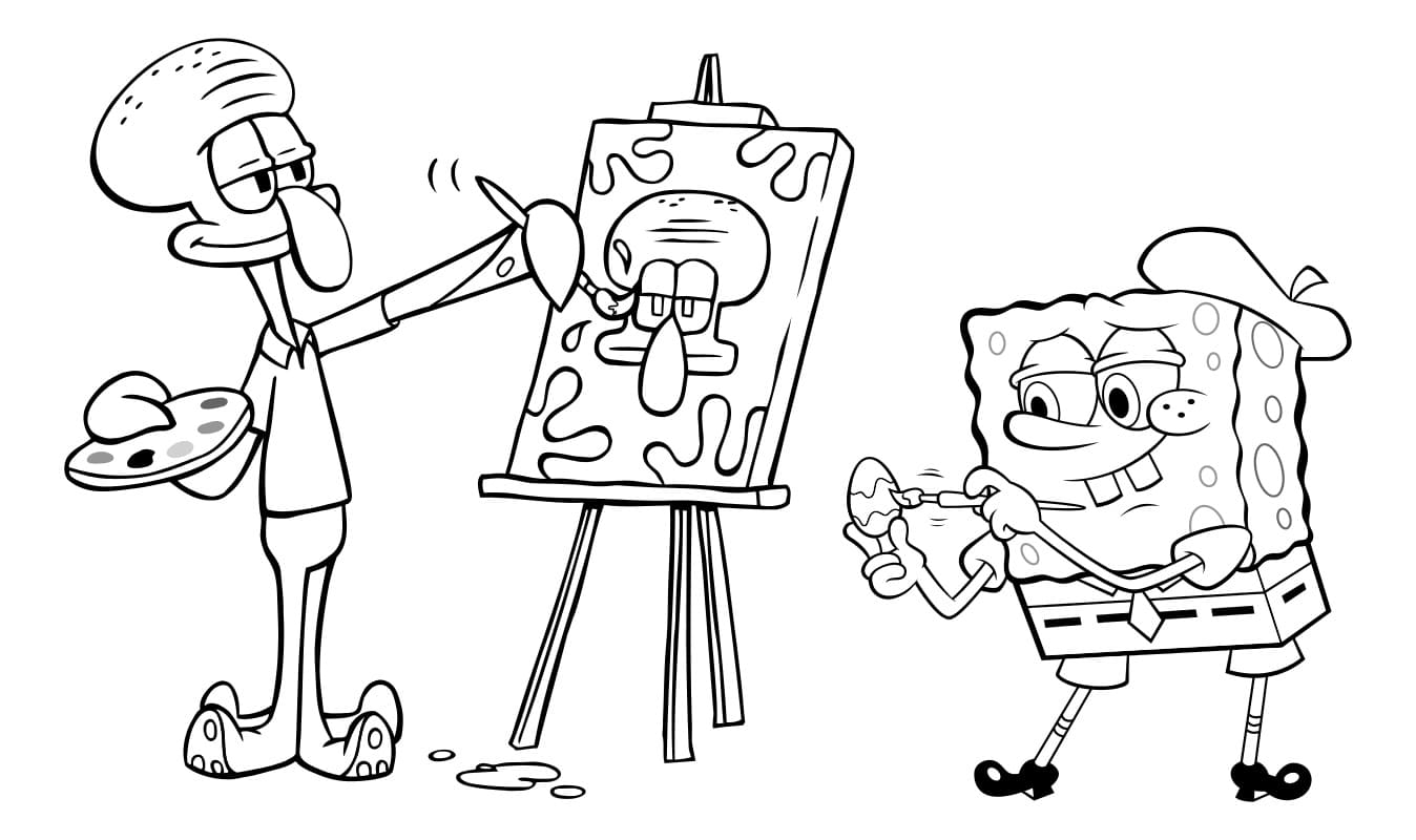 Раскраски Губка Боб. Распечатать бесплатно