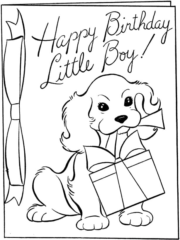 - Happy Birthday Coloring Card. New Collection 2020. Free Printable
