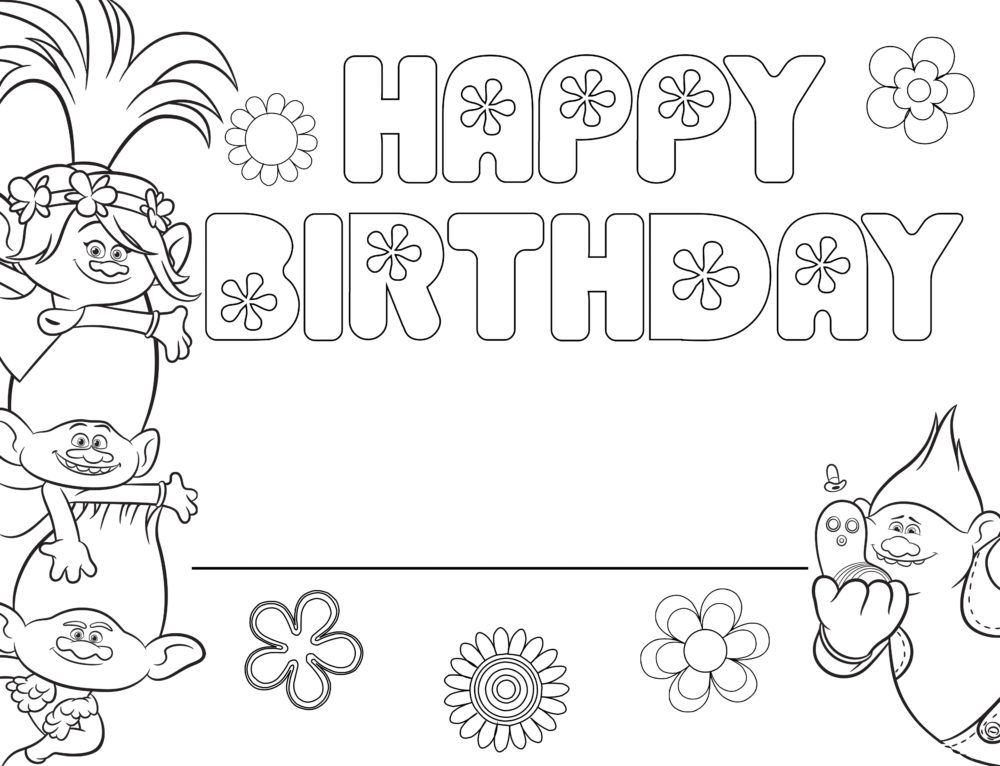 Coloring pages Happy Birthday. Big collection. Print postcards