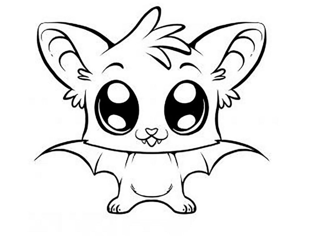 Desenhos de Kawaii para colorir. Imprimir caracteres incomuns