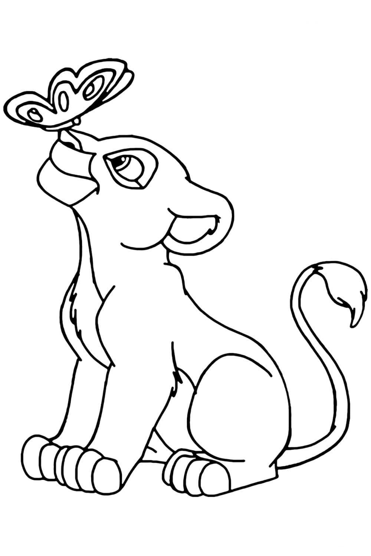 Раскраски Король Лев. Распечатать можно бесплатно