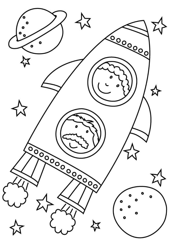 Coloring pages Space. Print for free, 100 pieces