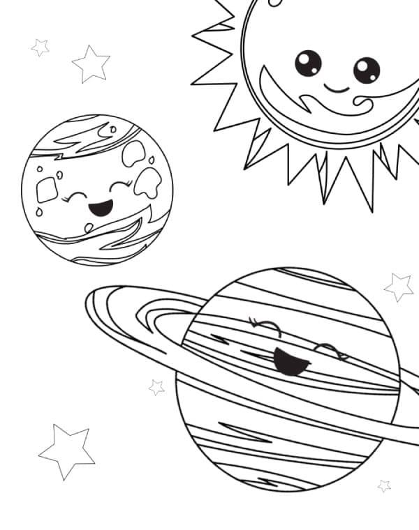 Ausmalbilder Weltraum. Sie können kostenlos drucken