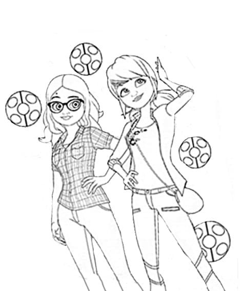 Ladybug and Chat Noir Coloring Pages.Print for Free