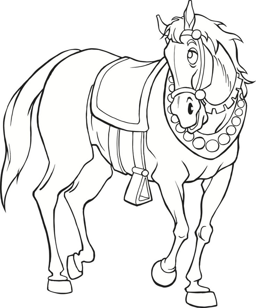 Coloring Pages Horse. Large collection, 100 pieces. Print online
