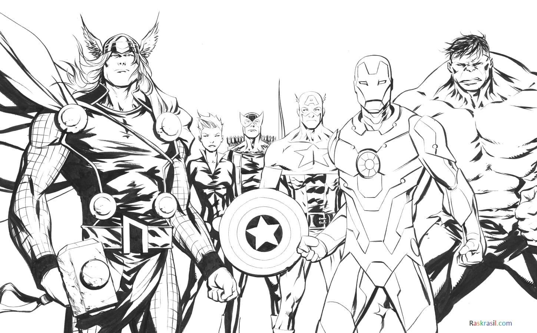 Desenhos De Vingadores Para Colorir 110 Pecas Imprimir No Site