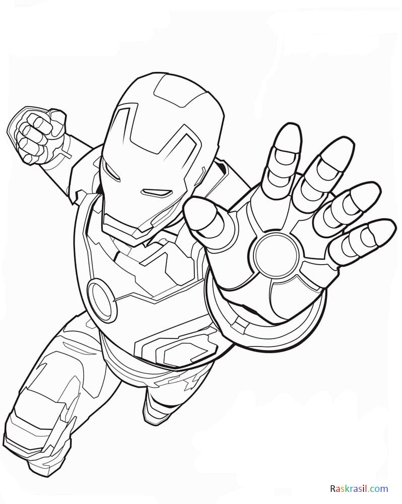 Coloring Pages Avengers 110 Pieces Print On The Website