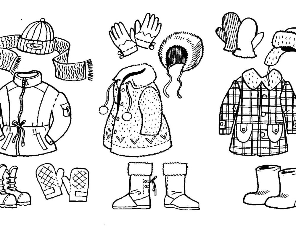 Coloring pages Clothes. Download or print online for kids