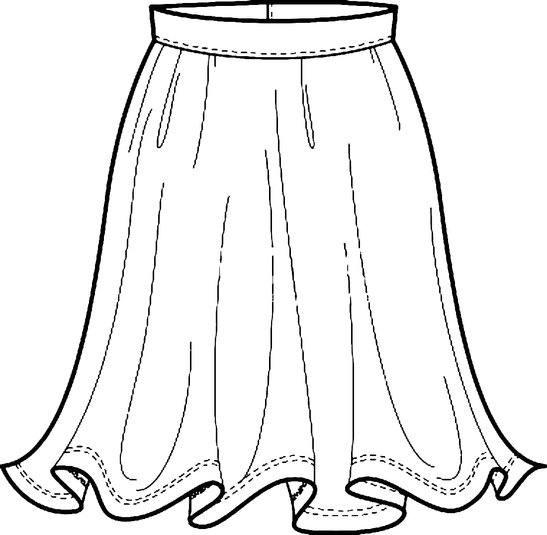 EPS Illustration - Children clothing and fashion. dress, skirt ... | 1077x1100