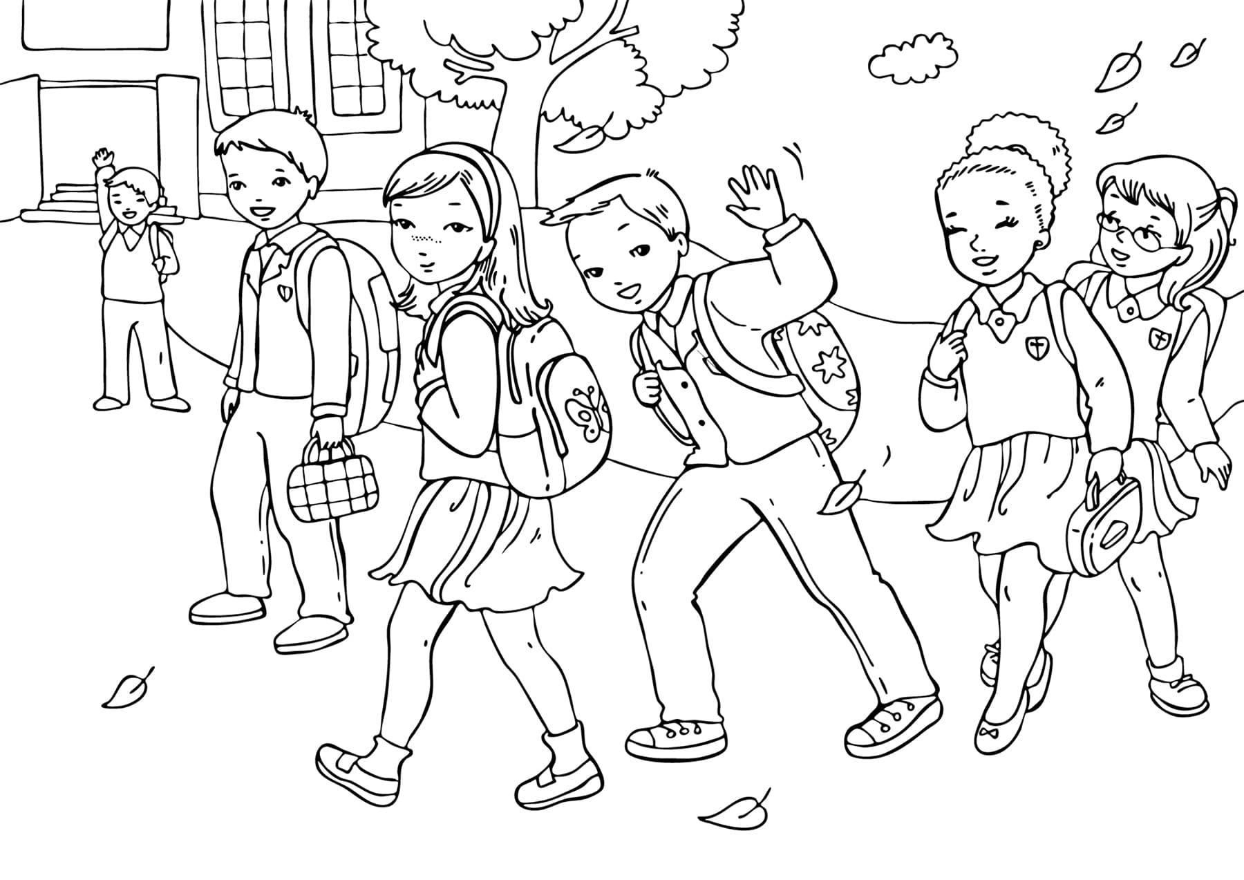 Картинки, картинки про школу для детей черно белые