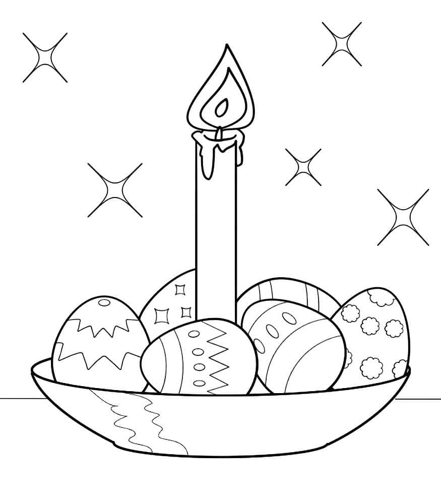 Coloring pages Easter. Print Easter Egg Coloring and Rabbitsfree