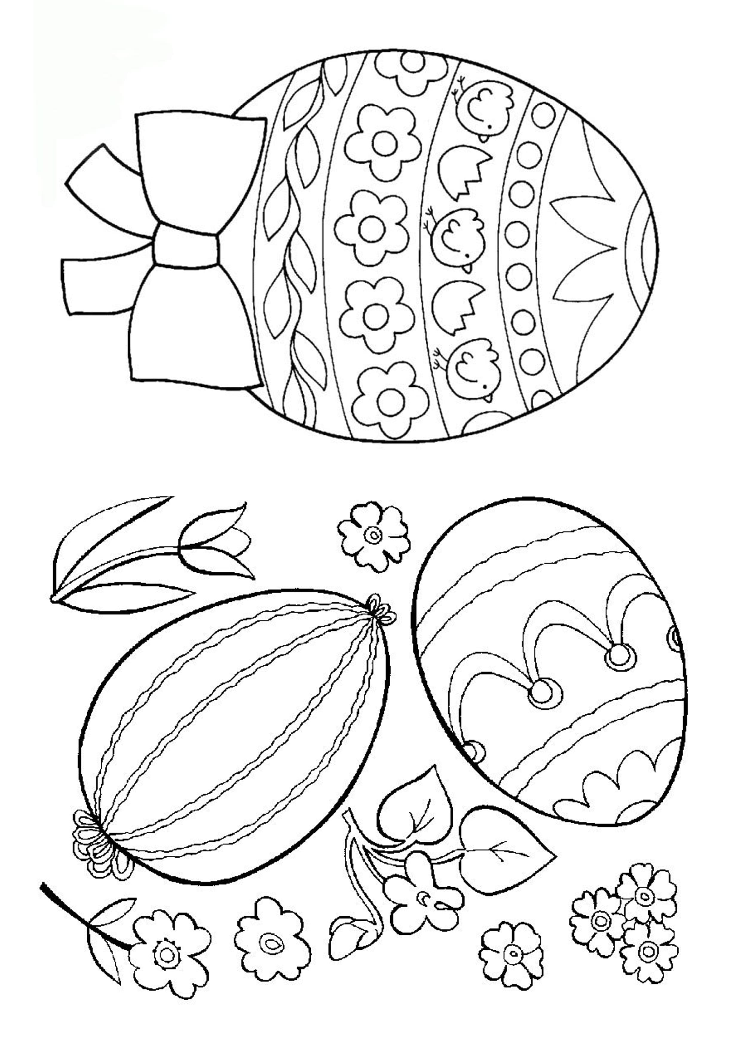 раскраски пасха распечатайте раскраски пасхальных яиц