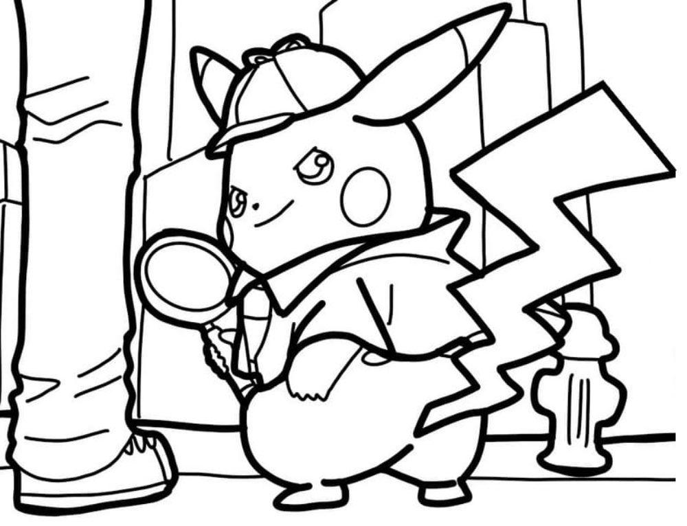 Ausmalbilder Pikachu und andere Pokemon. Kostenlos drucken, 100 Bilder