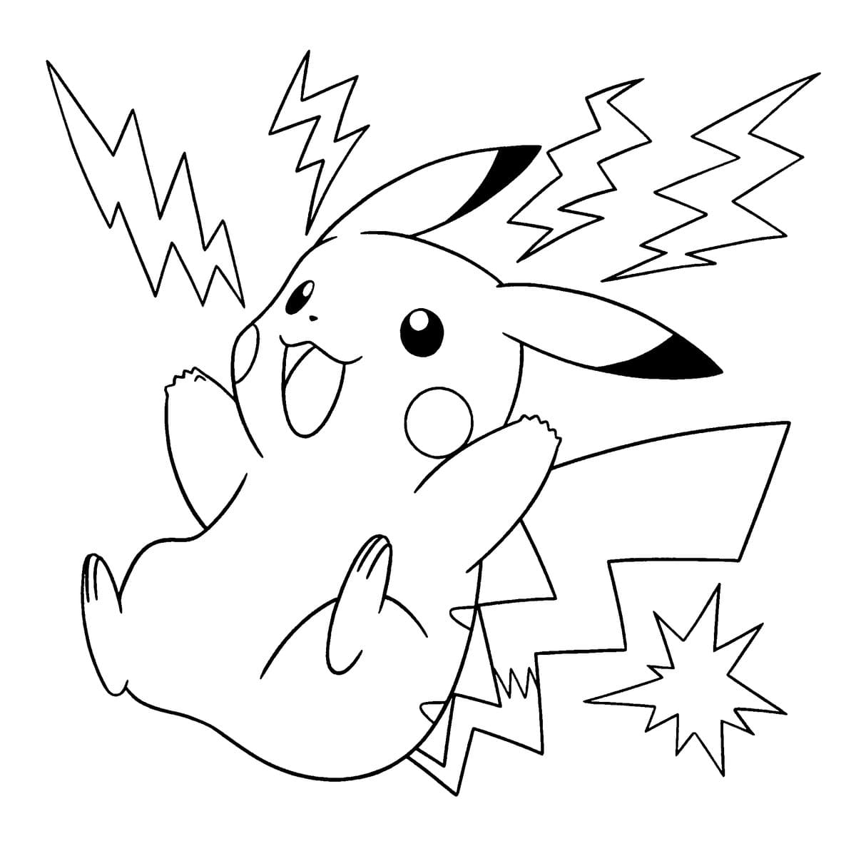 Coloring Pages Pikachu And Other Pokemon Print For Free 100 Images