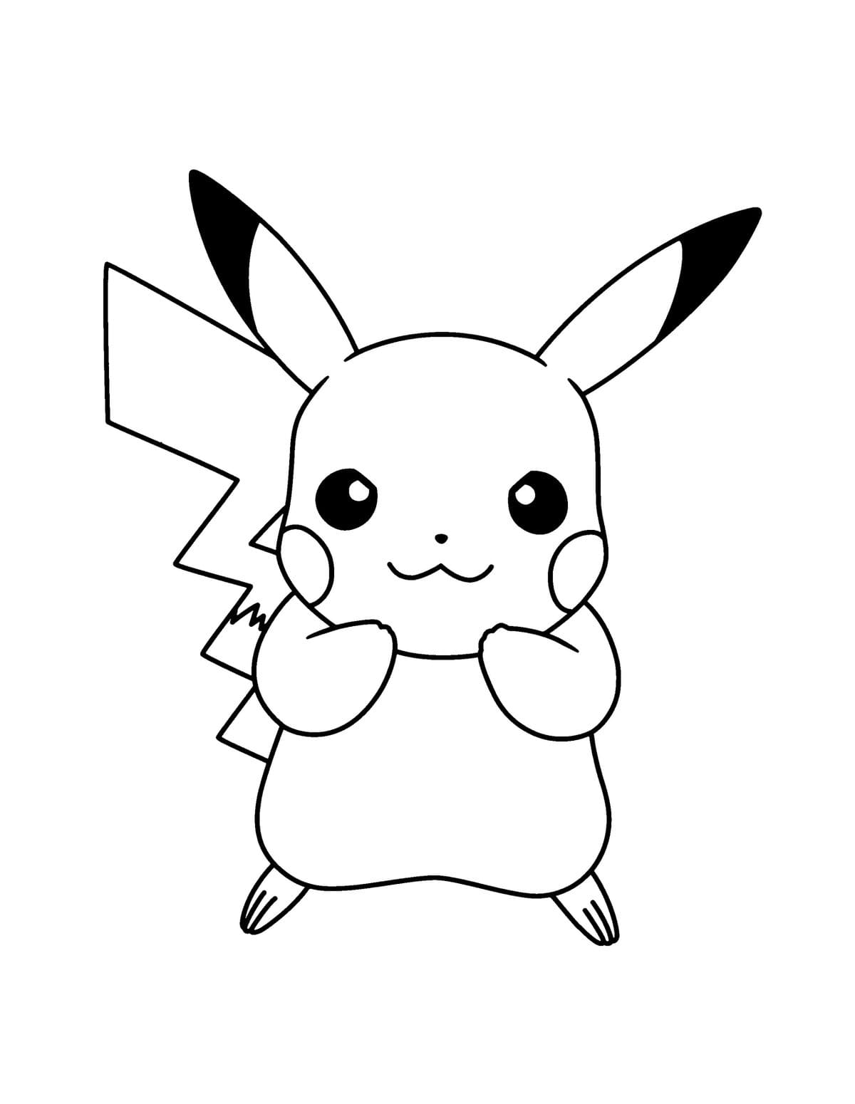 Coloring Pages Pikachu and other Pokemon. Print for free 100 images