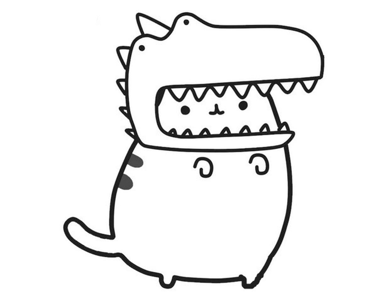 Mesmerizing image pertaining to pusheen coloring pages printable