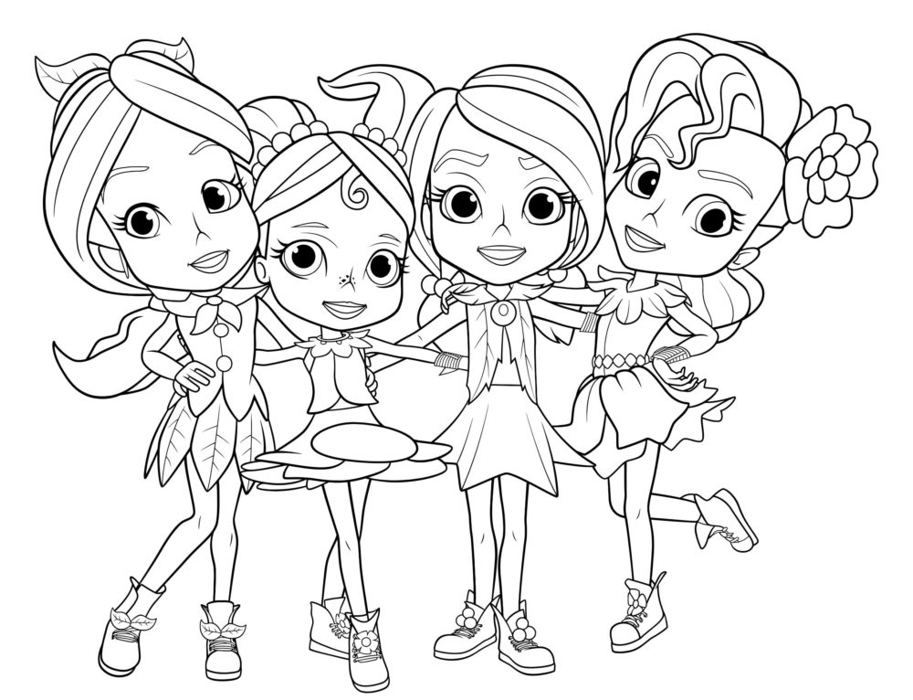 Coloring Pages Rainbow Rangers. Print Little Sorceresses