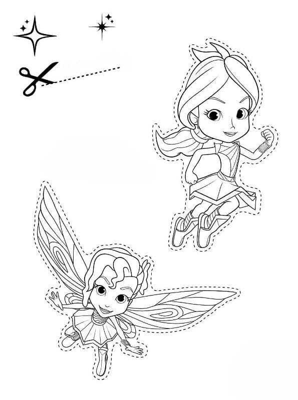 Rainbow Rangers Coloring Pages. Free Printable Little Sorceresses